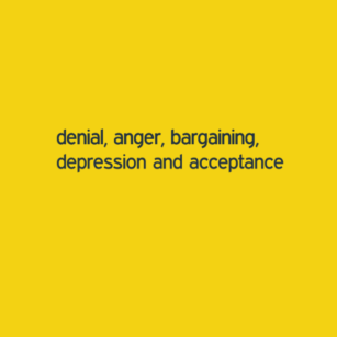 Denial, Anger, Bargaining, Depression, and Acceptance denial anger bargaining depression and acceptance 2