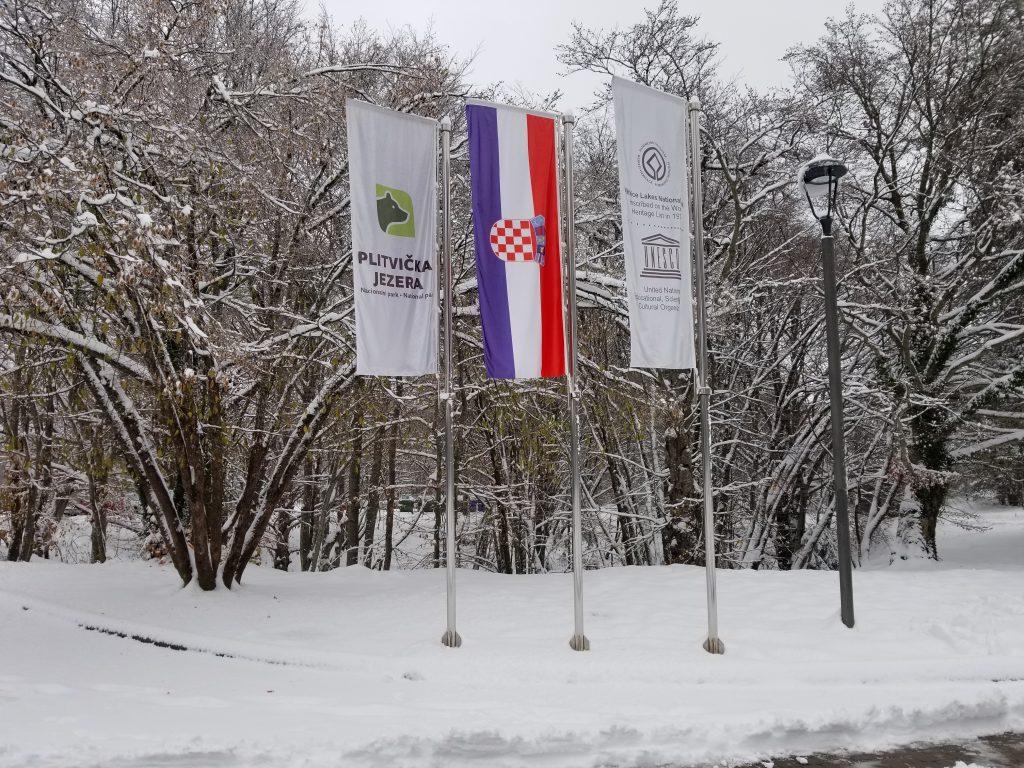 Salju di Plitvice Lake, Kroasia Plitvice Lake Winter Snow Croatia 1 2
