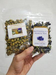 Teh Telang (Butterfly Pea Tea - Clitoria Tea) Dan Chrysanthemum - Herwin
