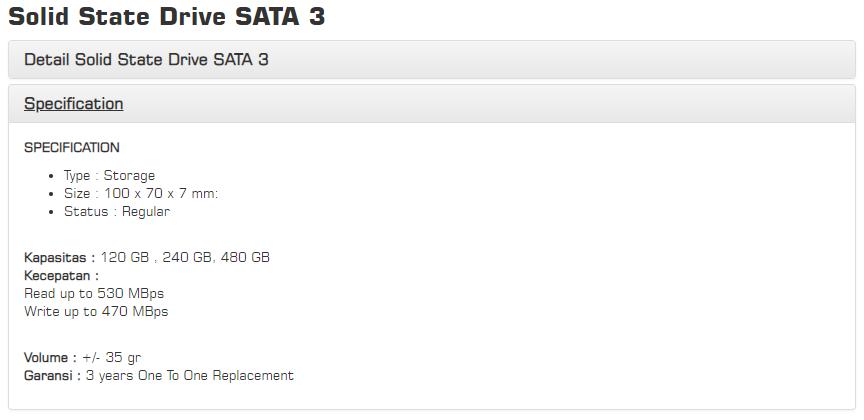 Perbandingan Memilih SSD 120GB Murah dan Bagus V GeN SSD Spesifikasi 10