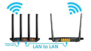 Menghubungkan 2 Router Kabel LAN - HerwinLab