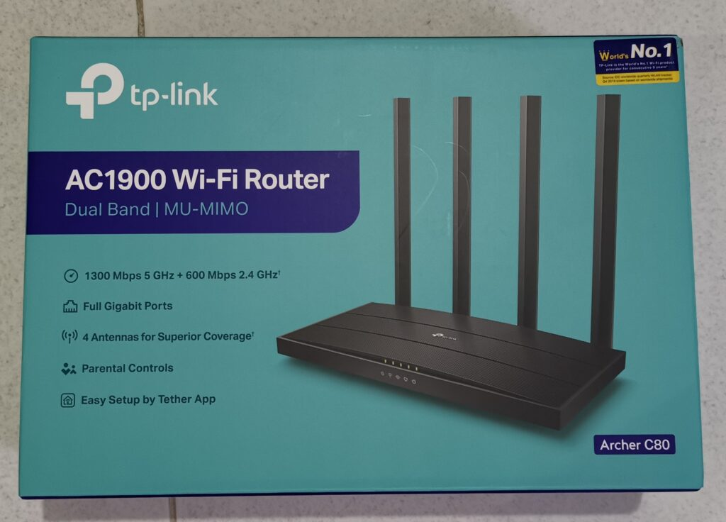 Review Router TP-LINK Archer C80 Box HerwinLab